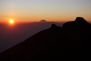 Sonnenaufgang auf dem Mt Agung