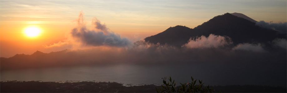 Der Vulkan Gunung Batur