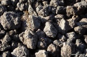 Lavasteine auf dem Vulkan