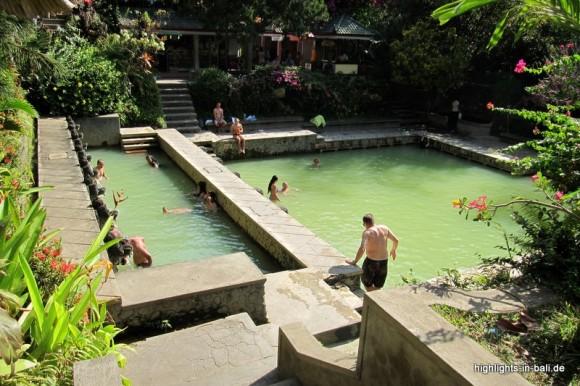 heiße Quellen auf Bali