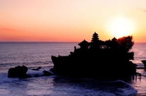 Der Tempel bei Sonnenuntergang